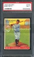 1933 Goudey Babe Ruth PSA 7