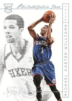 13/14 Panini Signatures Michael Carter-Williams Chase Insert