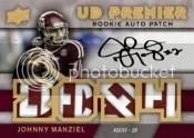 2014 Spx Johnny Manziel UD Premier