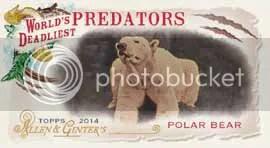 2014 Topps Allen & Ginter World Deadliest Predators