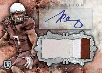 2014 Topps INception Football Auto Relic Card