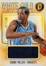 13/14 Panini Gold Standard White Gold Andre Miller Jersey