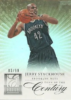 12/13 Panini Eilite Series Turn of the Century Jerry Stackhouse