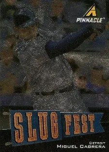 2013 Pinnacle Slugfest Miguel Cabrera Insert Card