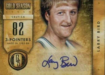 13/14 Panini Gold Standard Gold Season Larry Bird Auto