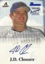 2000 Bowman J.D. Closser Autograph