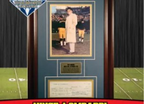 2010 TriStar Hidden Treasures Football Vince Lombardi Diamond   Treasure