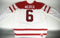 Shea Weber Team Canada Game Worn Jersey