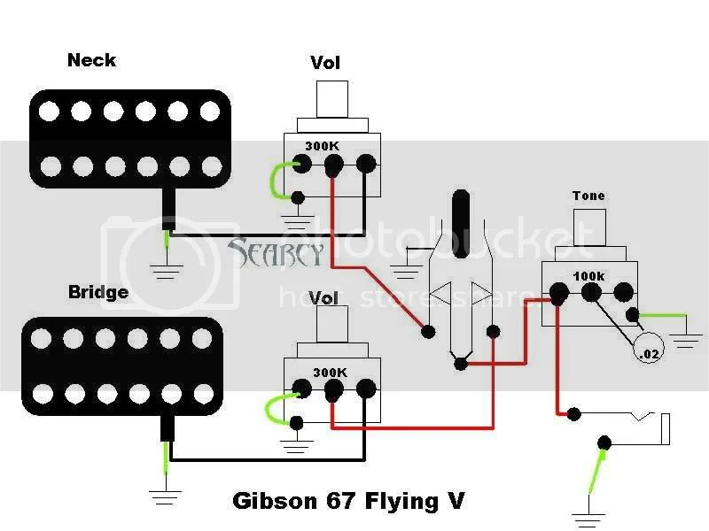 wiring diagram for gibson flying v