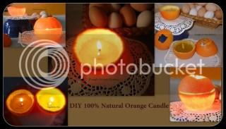 DIY 100% Natural Orange Candle