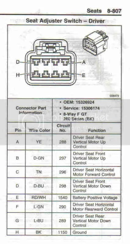 2006 Seat Switch Electrical Diagram? - CorvetteForum - Chevrolet