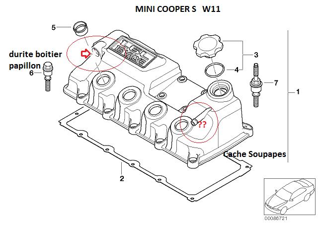 2007 mini cooper s Schema moteur