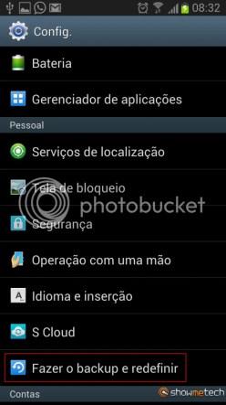 Formatando Galaxy Note II - Passo 02