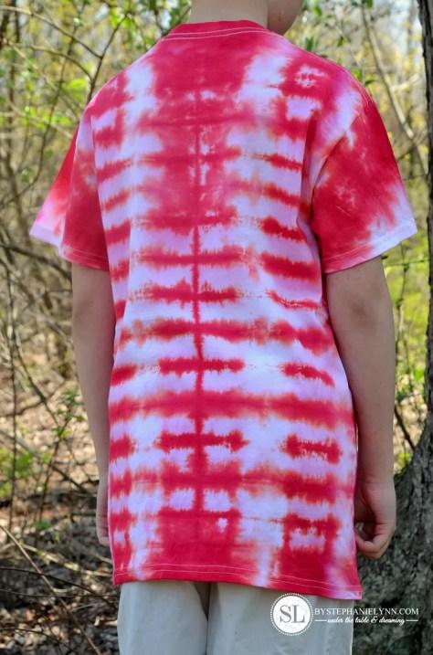 Accordion Rectangle Tie Dye Pattern