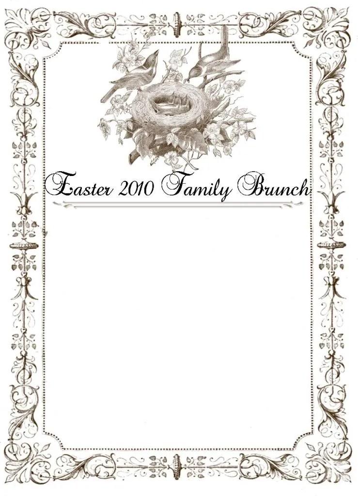 Framed Easter Dinner / Brunch Menu - bystephanielynn