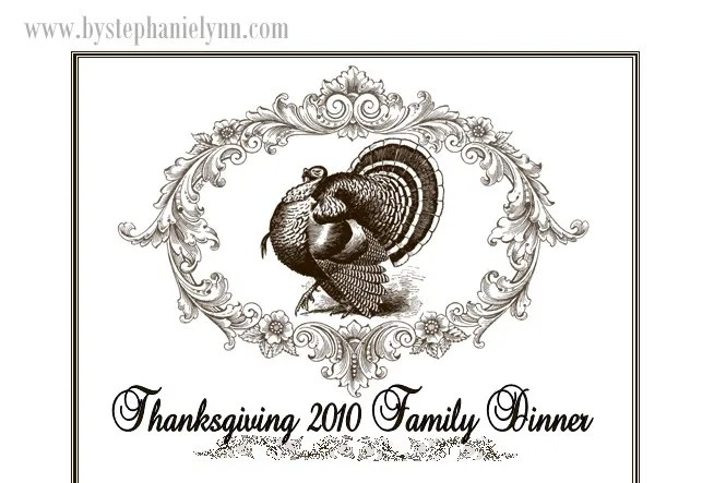 Framed Thanksgiving Menu {With Printable Template} - bystephanielynn