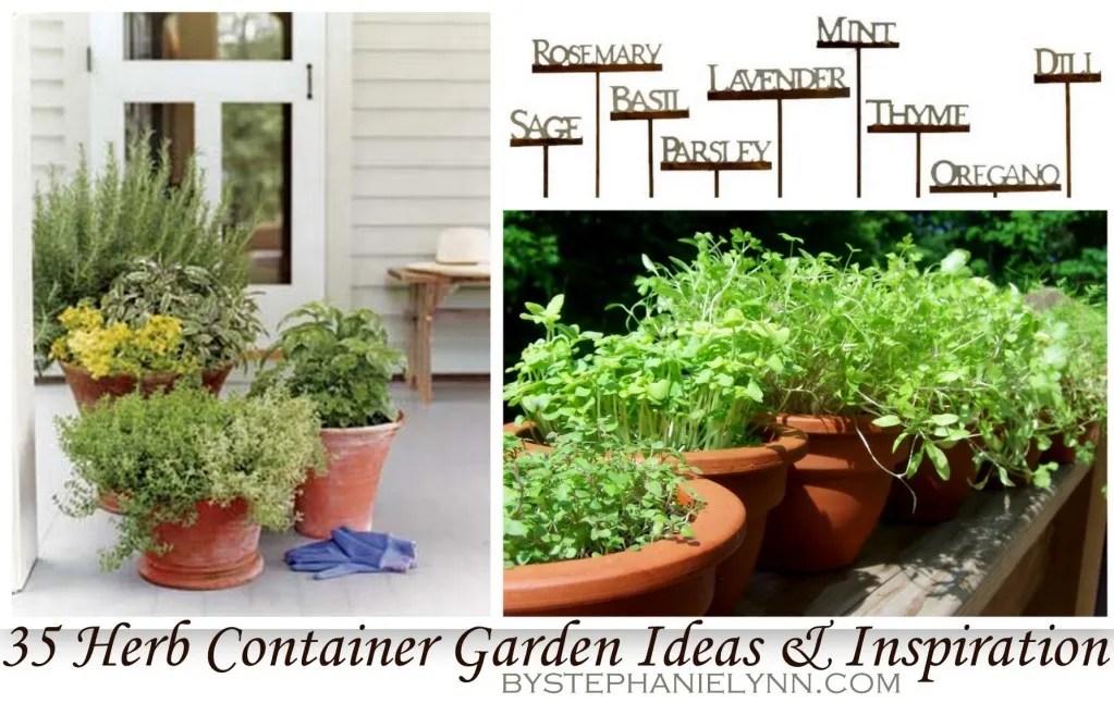 35 Herb Container Gardens ~ Pots \ Planters {Saturday Inspiration - container garden design ideas