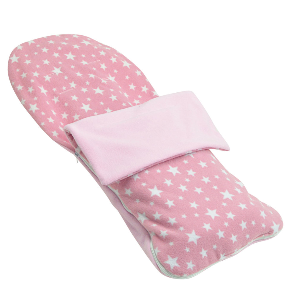 Travel Trio Musical Pram Tie Snuggle Summer Footmuff Compatible With Chicco Trio Living Light Pink Star