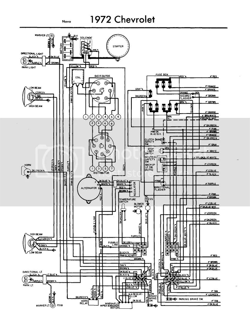 1971 chevy starter wiring diagram