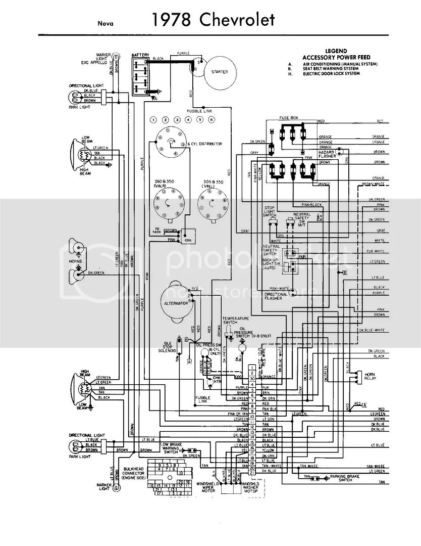 78 nova headlight wiring diagram