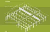 Hanging beam and ceiling joists