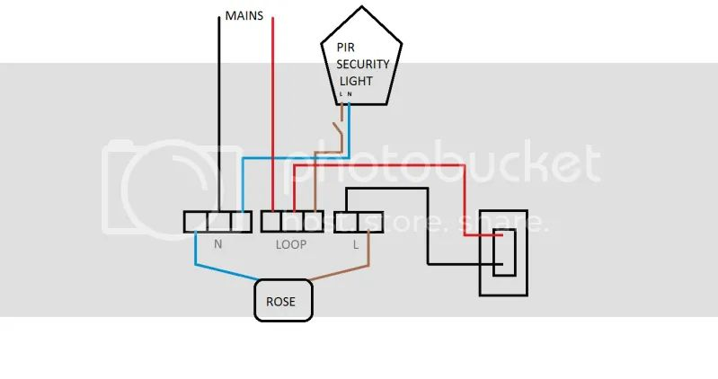 wiring circuit for outside lights