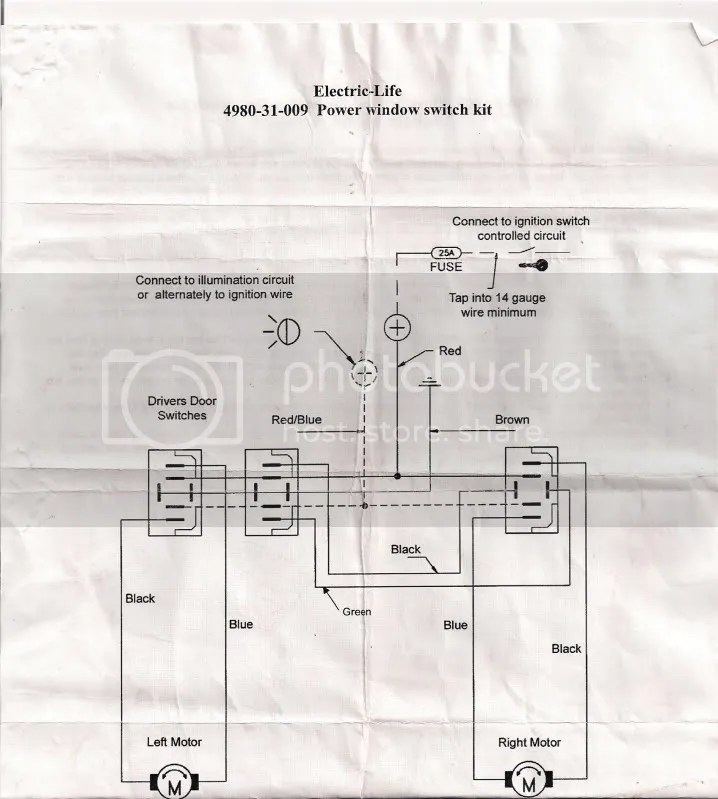 universal power window wiring schematic pin power window switch