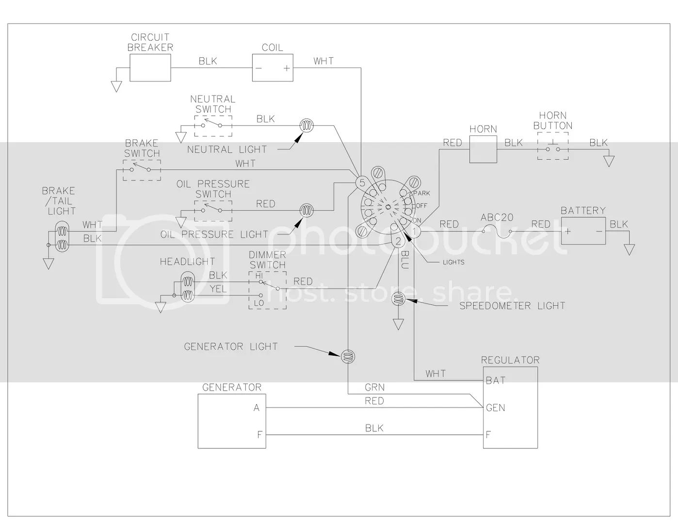 need a simplified 5 pole ignition switch wiring diagram harley
