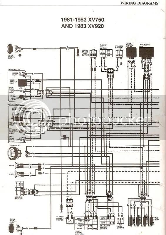 1982 virago 920 wiring diagram