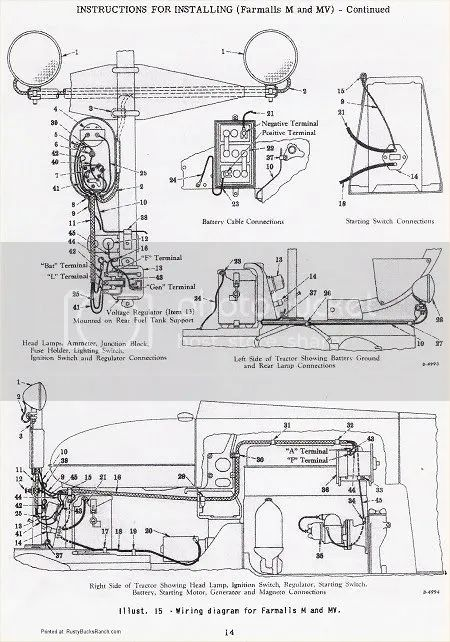 farmall b engine diagrams