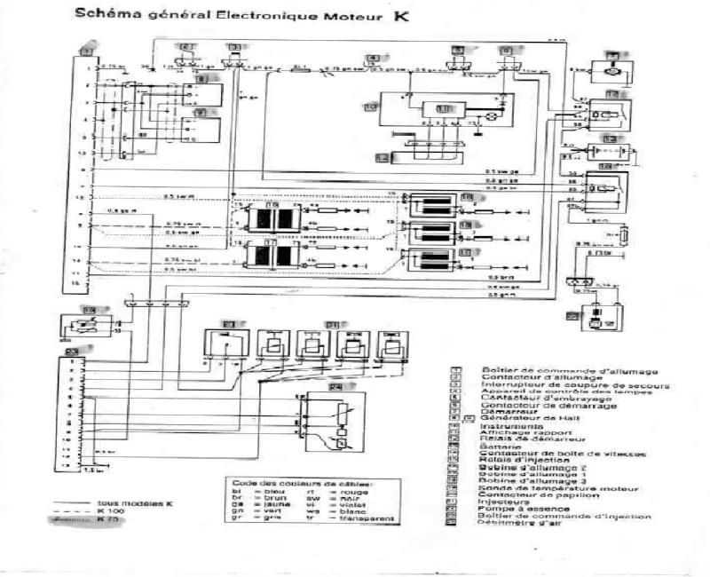 bmw k100 schema cablage