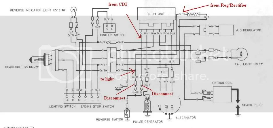 honda 300ex electrical diagram