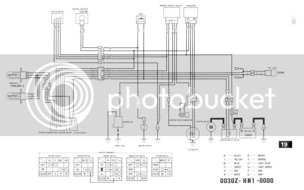 2007 honda 400ex wiring diagram