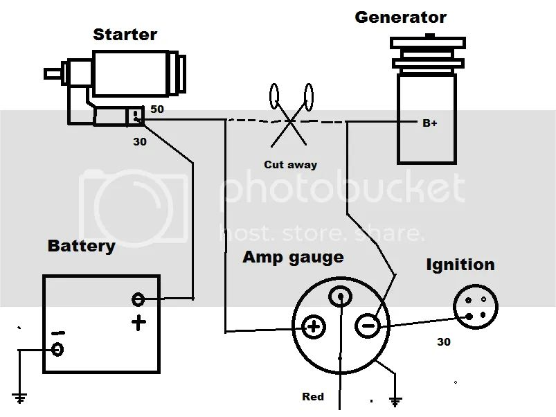 amp gauge wiring diagram ford