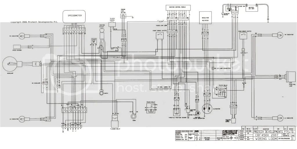 2006 crf450r wiring diagram
