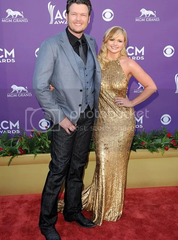 ACM BlakeShelton MirandaLambert {Celebs} What They Wore to 2012 Academy of Country Music Awards