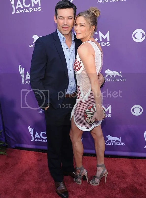 ACM LeAnnRimes EddieCibrian {Celebs} What They Wore to 2012 Academy of Country Music Awards