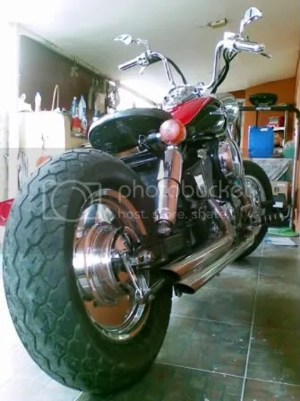 Custom 97 Honda Shadow Rear