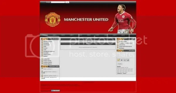 Php-fusion Manchester United Soccer Theme - Free Web Templates - php templates