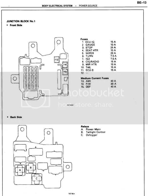 Power Window Fuse - Toyota Nation Forum  Toyota Car and Truck Forums