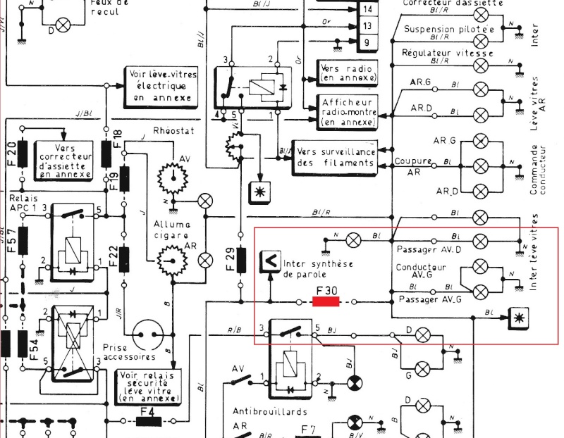 rover v6 schema cablage