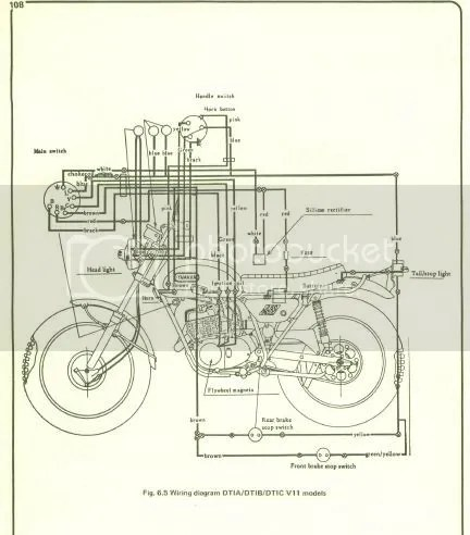 dt400 wiring diagram motorcycle electronic ignition circuit diagram