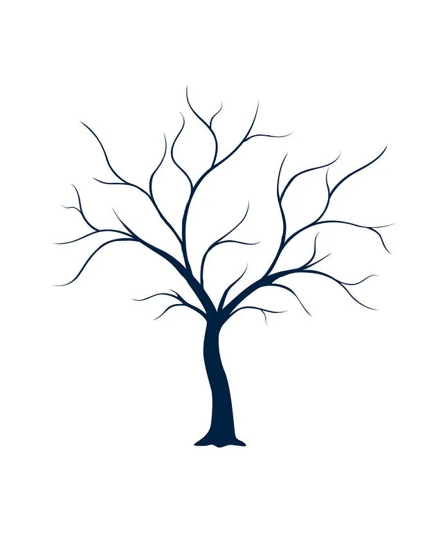 bare tree template - Google Search Crafts Pinterest Tree - baby shower template