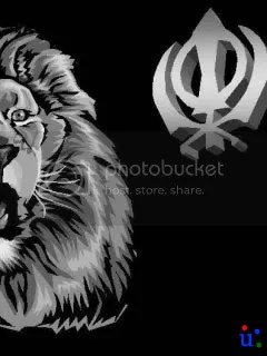 Cute Friendship Wallpapers With Messages Hindi Sikh Images Sikh Pictures Lion And Khanda 04