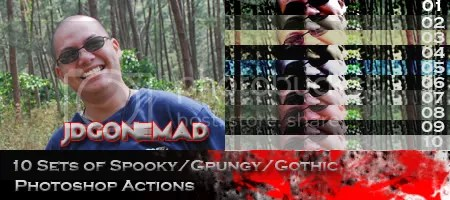 jdGONEMAD Spooky Photoshop Action