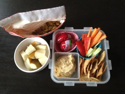 School Lunch Hummus Plate on Cool Mom Picks