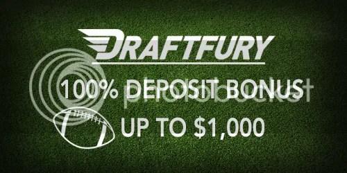 100% Deposit Bonus from DraftFury