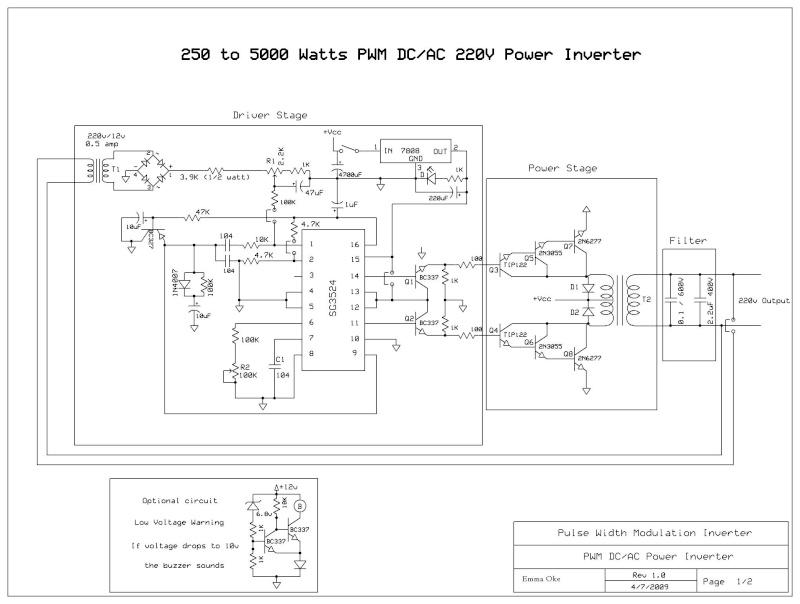 inverter 12 volt wiring diagram volt dc to ac inverter circuit