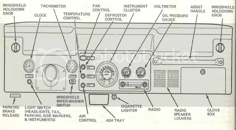 jeep cj7 dashboard wiring