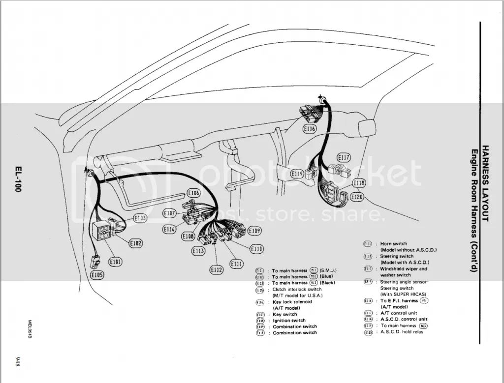 s14 engine room wiring harness diagram